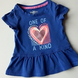 Blue Baby Girl T-shirt * size 9-12M